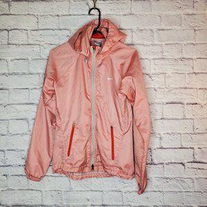 "Nike ""Fitstorm"" womens running jacket, pink/white"